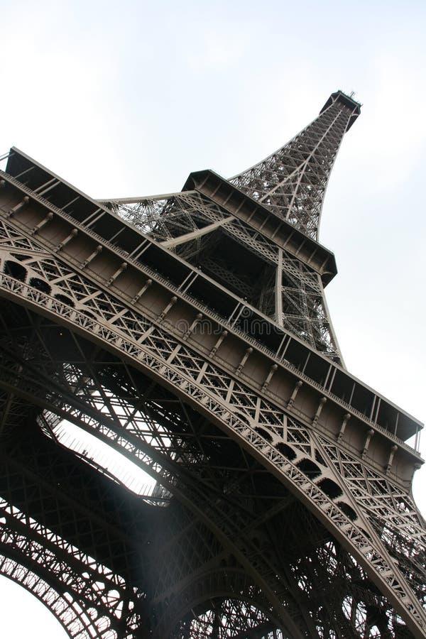 Magic Eiffel Tower from below, Paris stock photos