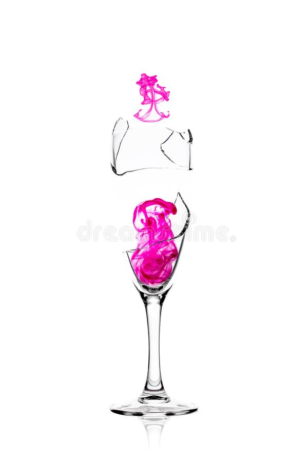 Download Magic Elixir In A Broken Glass Stock Image - Image of photograph, purple: 112605587