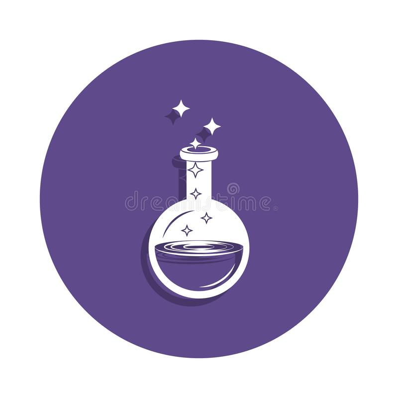 magic elixir icon in badge style. One of Magic collection icon can be used for UI, UX royalty free illustration