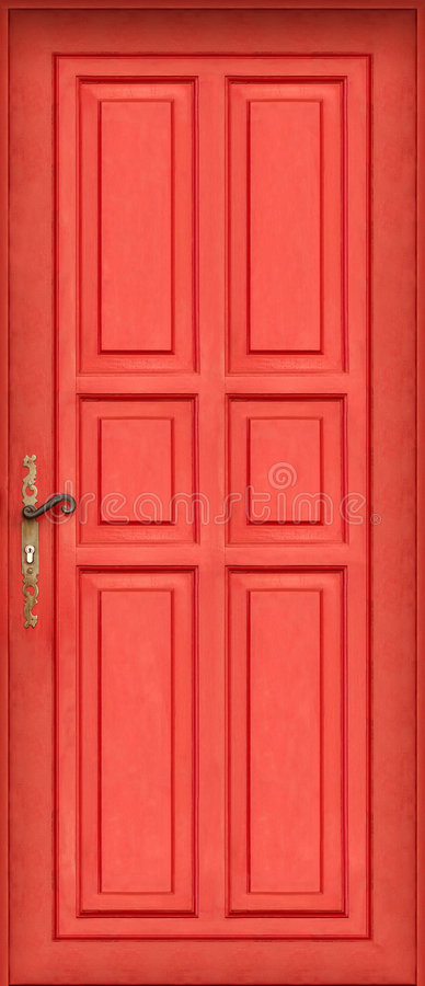 Magic entire red door royalty free stock photo