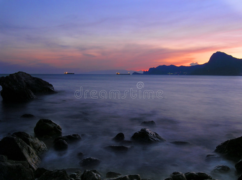 Magic evening Sea stock images