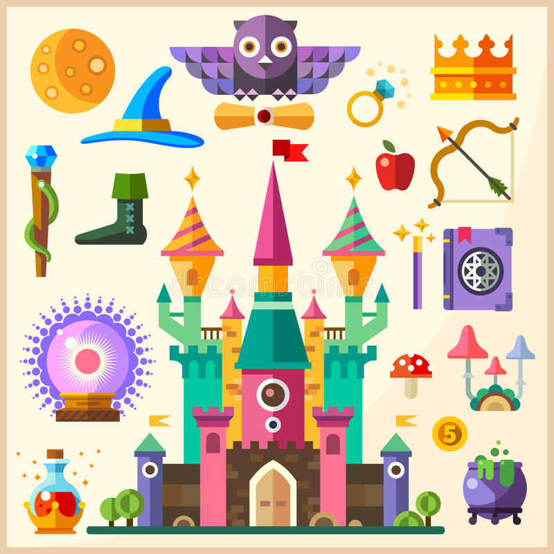 Magic and fairy tale royalty free illustration