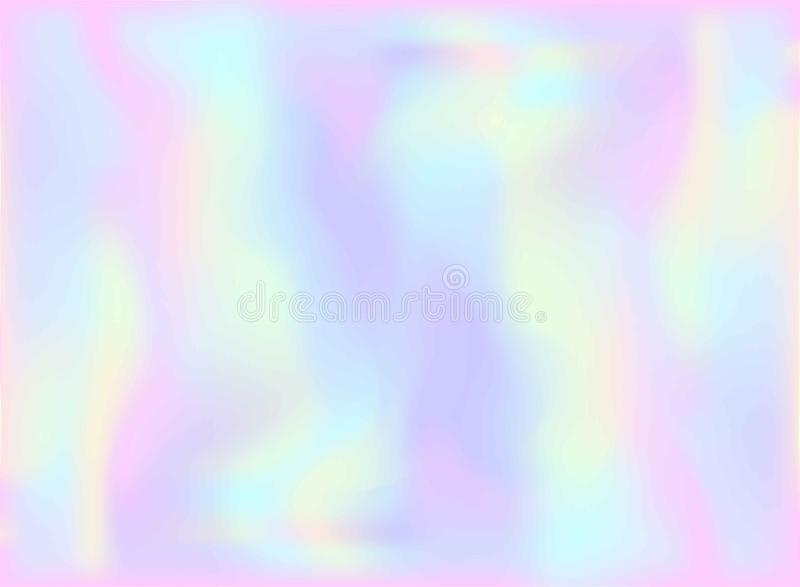 Magic Fairy and Unicorn background with light pastel rainbow mesh. Multicolor backdrop in girly pink, violet and blue colors. Fant. Asy holographic pattern with stock illustration