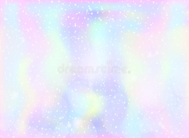 Magic Fairy and Unicorn background with light pastel rainbow mesh. Multicolor backdrop in girly pink, violet and blue colors. Fant royalty free illustration