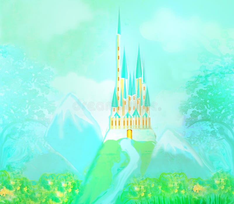 Magic FairyTale Princess Castle ilustração do vetor