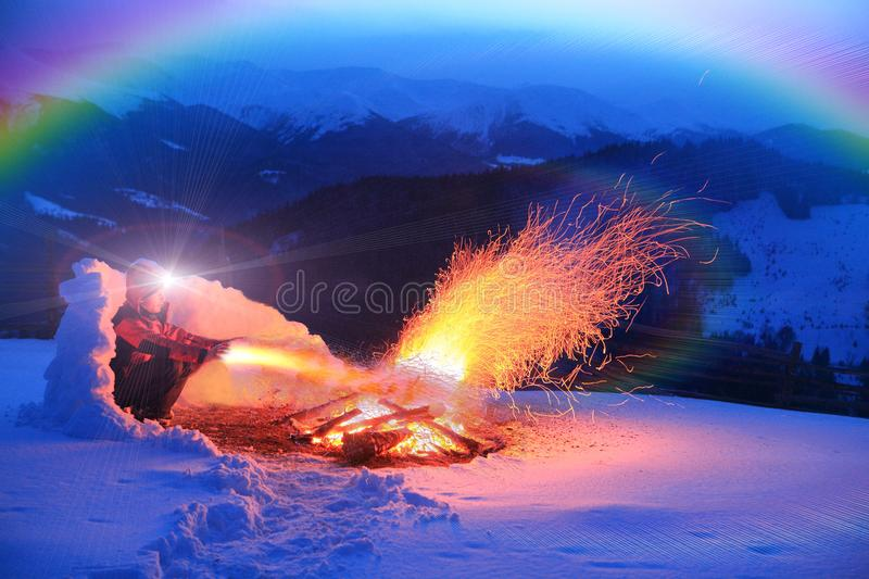 Magic of fire royalty free stock photo