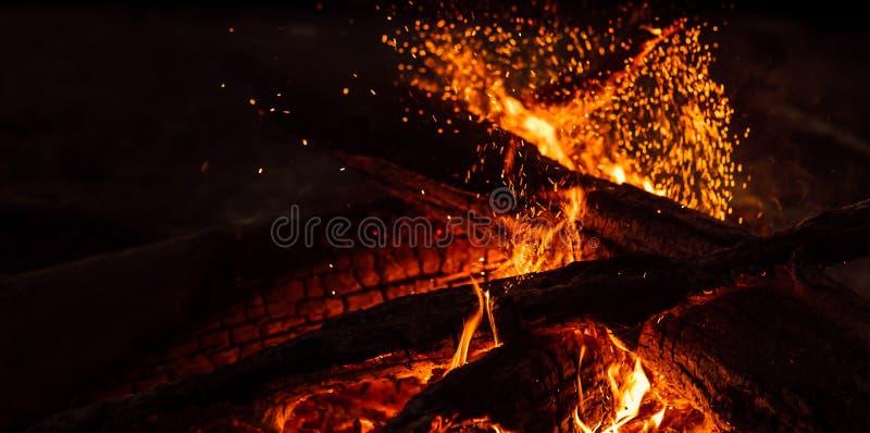 Magic fire stock photography