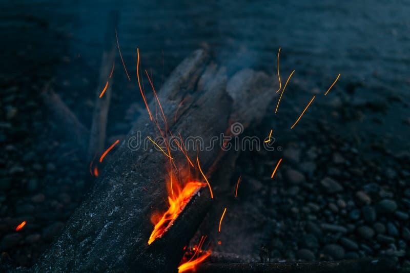 Magic fire stock photo