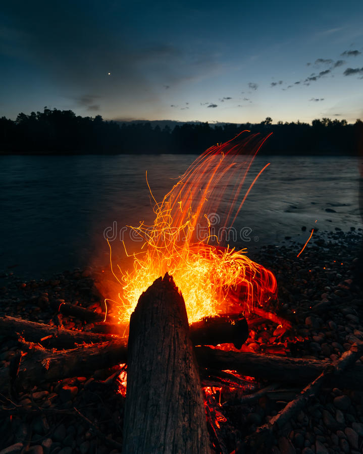 Magic fire royalty free stock photography