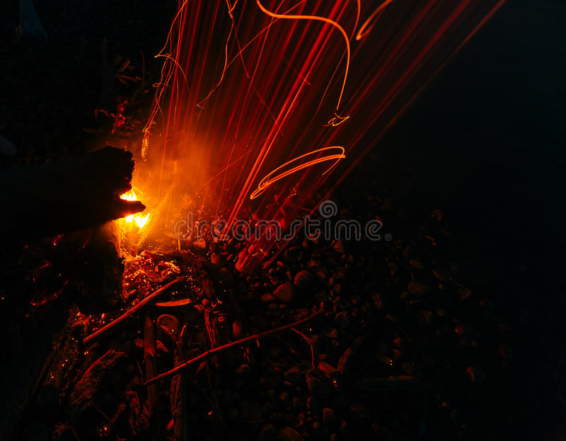 Magic fire royalty free stock image