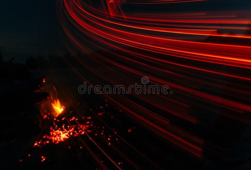 Magic fire royalty free stock photo
