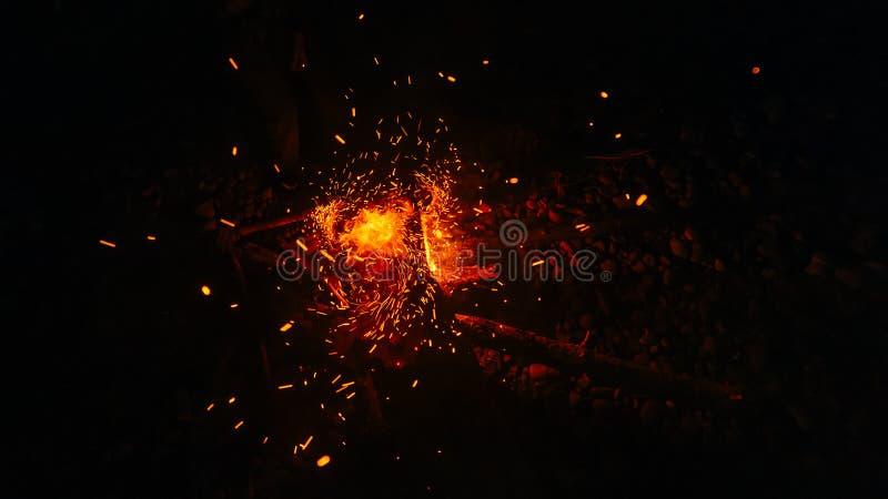 Magic fire stock photos