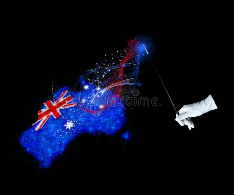 Magic Flag Of Australia Royalty Free Stock Images