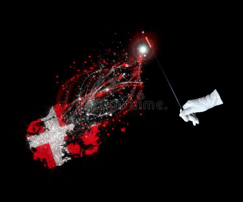 Download Magic flag of Denmark stock illustration. Illustration of enchantment - 26596115