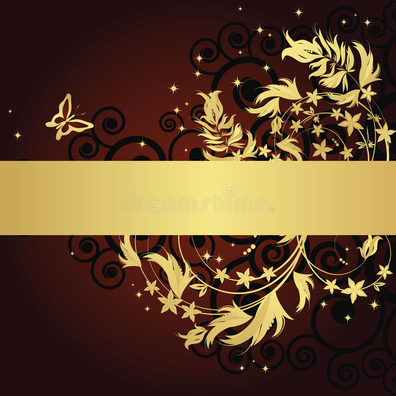 Magic floral background royalty free illustration