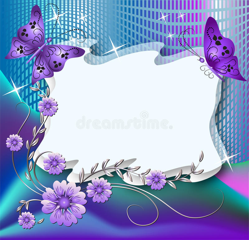 Magic floral background vector illustration