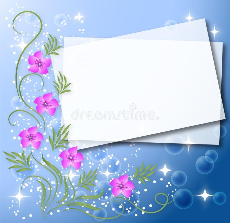 Magic floral background stock illustration