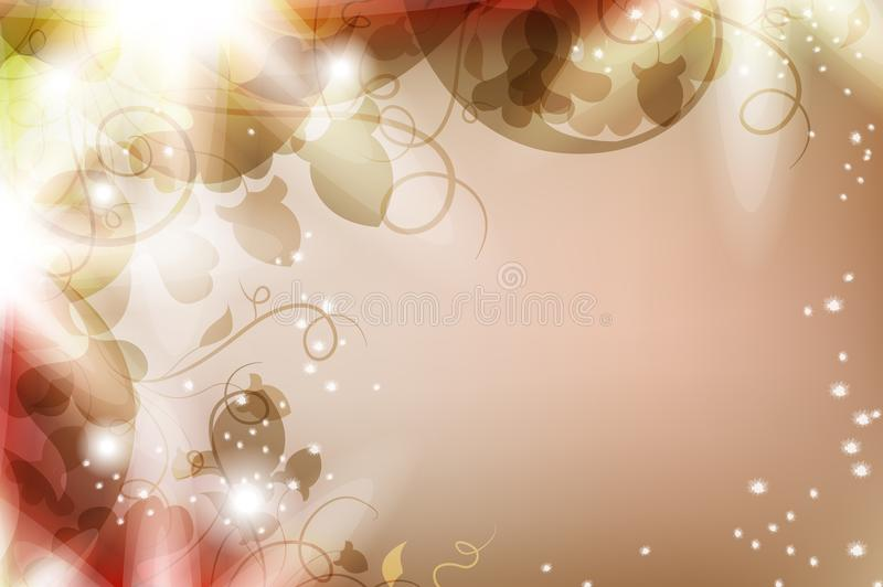 Magic flower background vector illustration