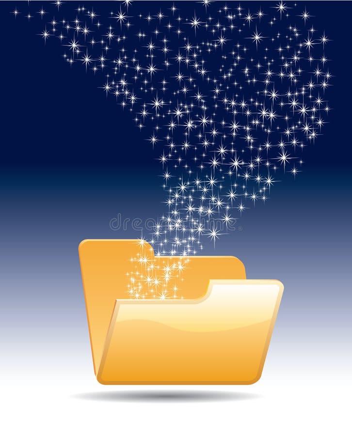 Download Magic folder stock vector. Image of illustration, blue - 19000340