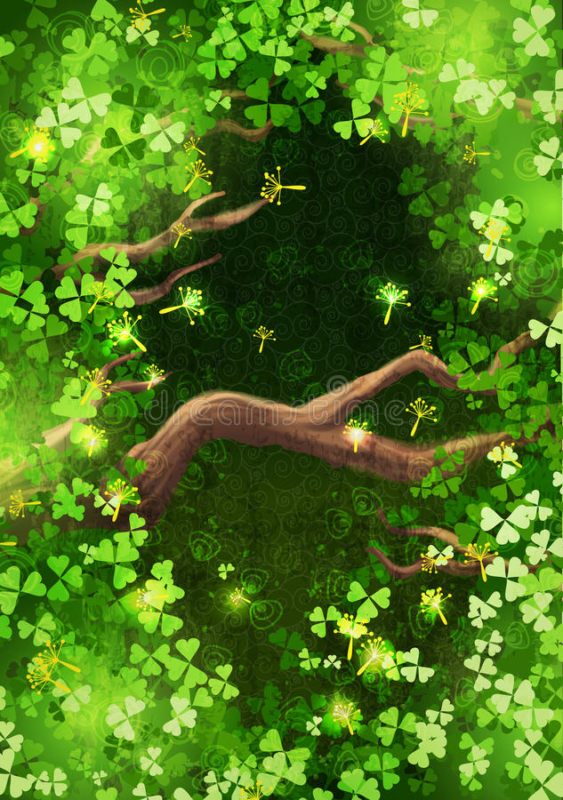 Magic forest background royalty free illustration
