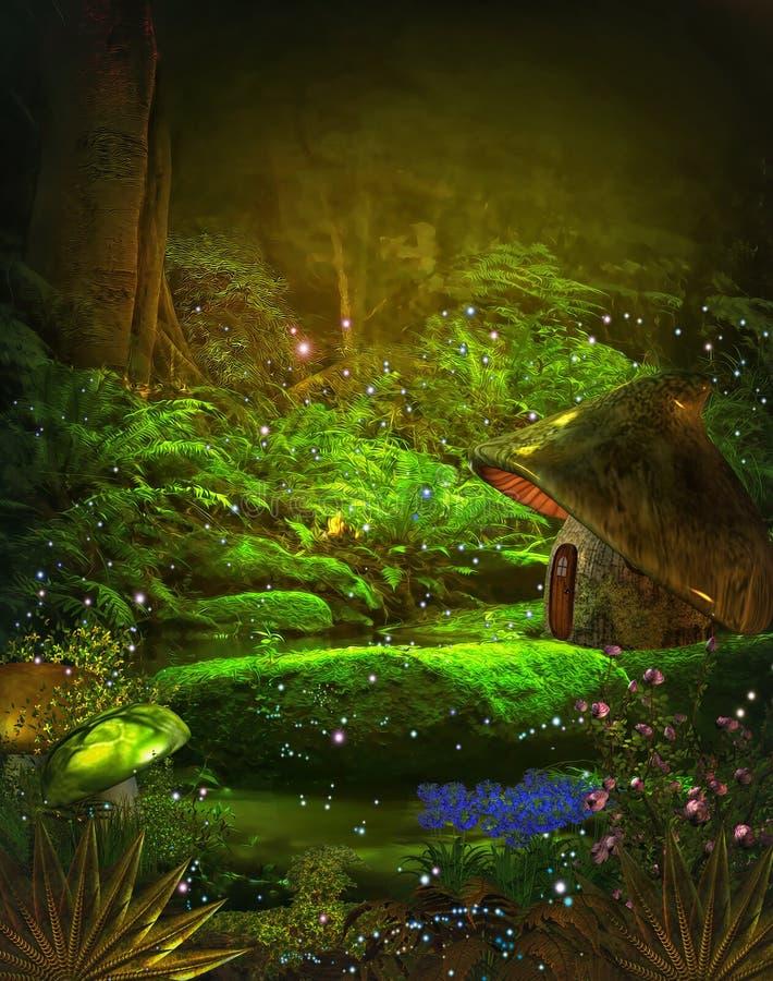 Magic forest vector illustration