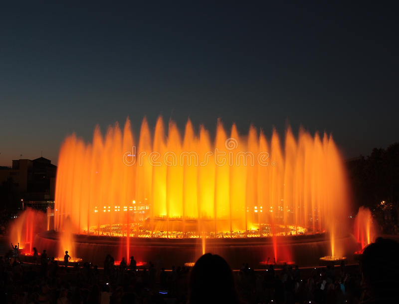 Download The Magic Fountain - Barcelona Editorial Stock Image - Image: 28727084