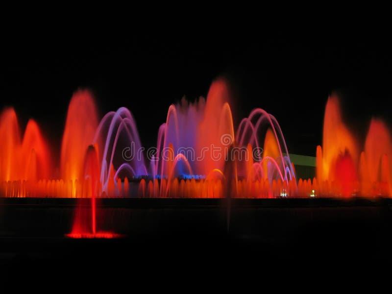 Magic fountain detail royalty free stock photos