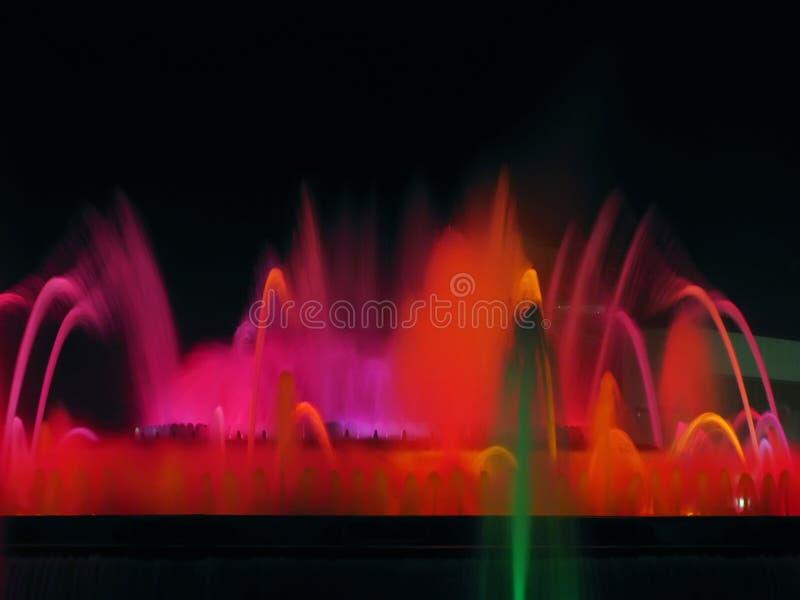 Magic fountain detail stock photos