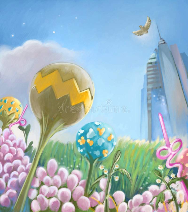Magic garden vector illustration
