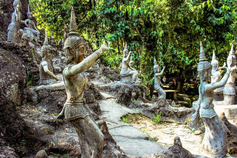 Magic Garden In Koh Samui Stock Photo