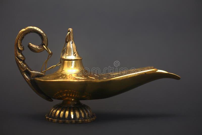 Download Magic Genie Lamp stock image. Image of gold, aladdin, metallic - 4923183