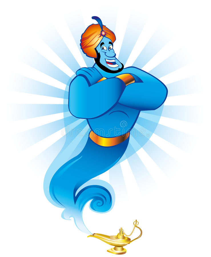 Magic genie vector illustration