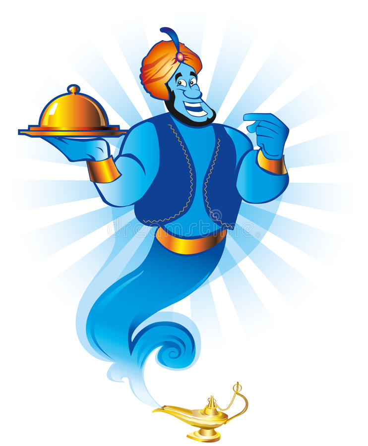 Magic genie royalty free illustration