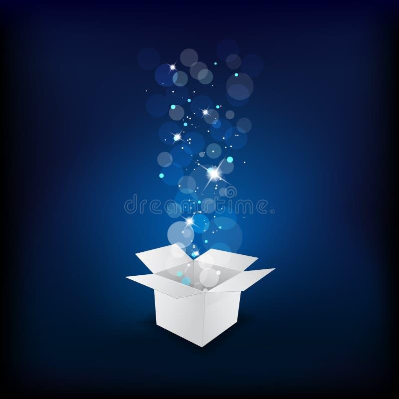 Magic gift box vector illustration