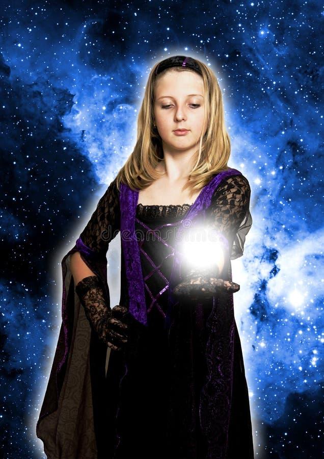 Download Magic girl stock image. Image of mystical, prediction - 11193475