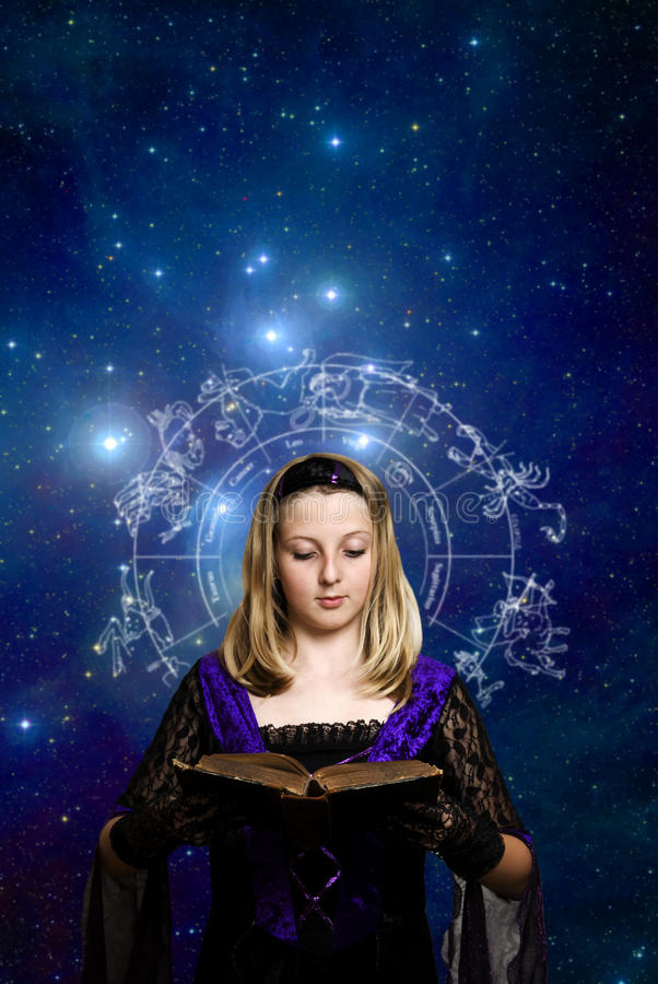 Download Magic girl stock image. Image of mystic, esoteric, astrological - 11193515