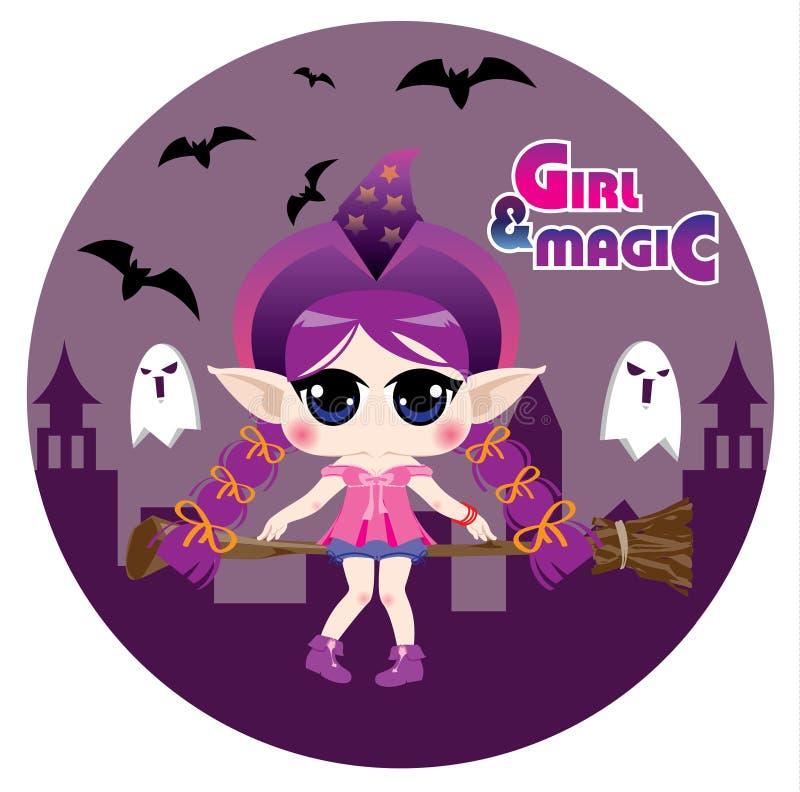 Download Magic girl stock illustration. Illustration of doll, halloween - 27616172