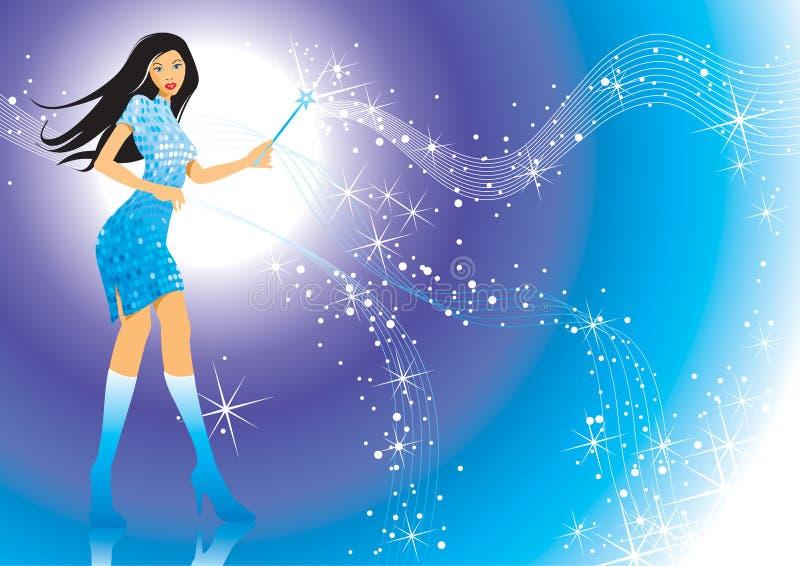 Download Magic Girl stock vector. Image of modern, design, magical - 5348523