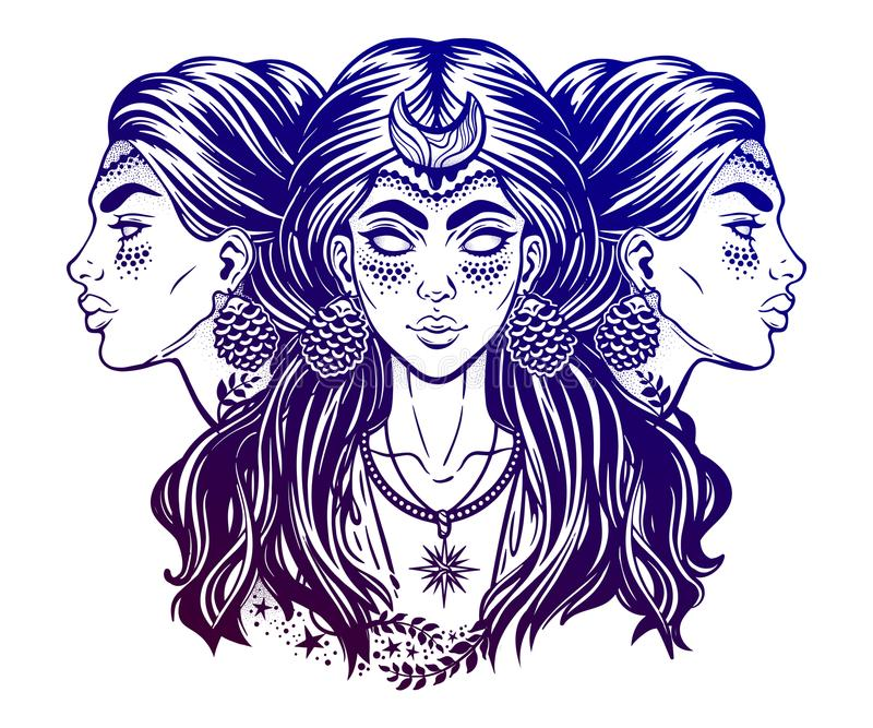 Magic Goddess Hecate Stock Vector Illustration Of Alchemy 111830751