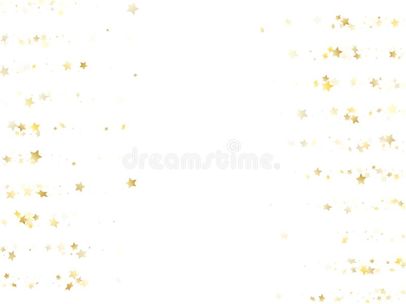 Magic gold sparkle texture vector star background. royalty free stock photography