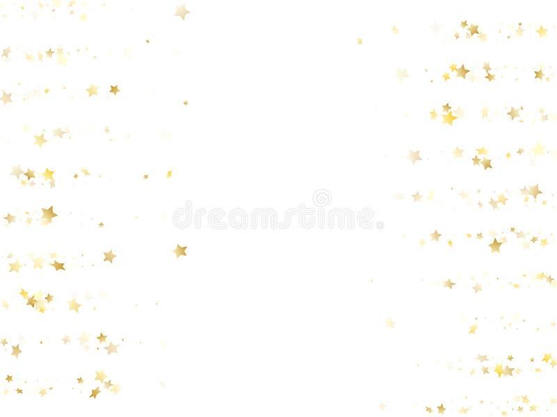 Magic gold sparkle texture vector star background. stock illustration