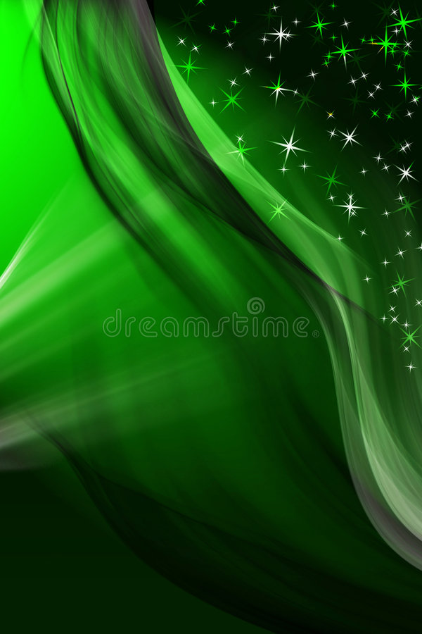 Magic green winter background stock illustration