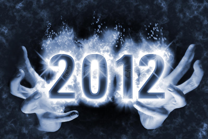 Magic Happy New Year Spell 2012 Stock Images