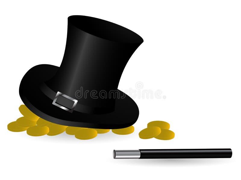 Download Magic hat stock vector. Image of fantasy, vector, gold - 22580125