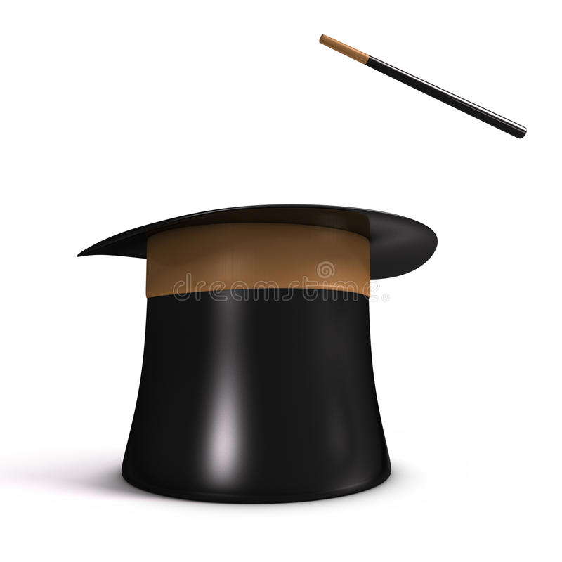 Download Magic Hat stock image. Image of white, stick, sorceress - 23511635