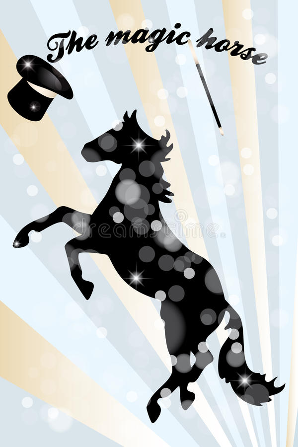 Download The magic horse stock vector. Illustration of thrilling - 31818638