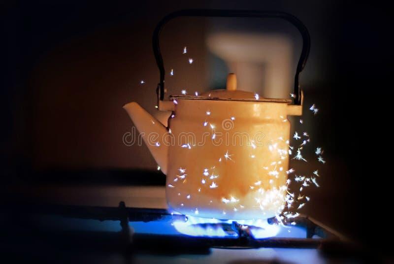 Magic kettle royalty free stock photos