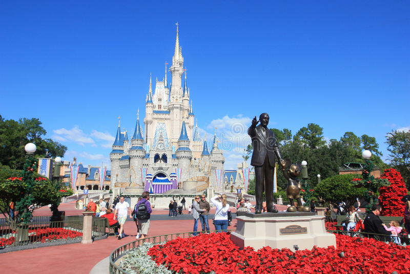 Magic Kingdom castle in Disney World in Orlando stock images