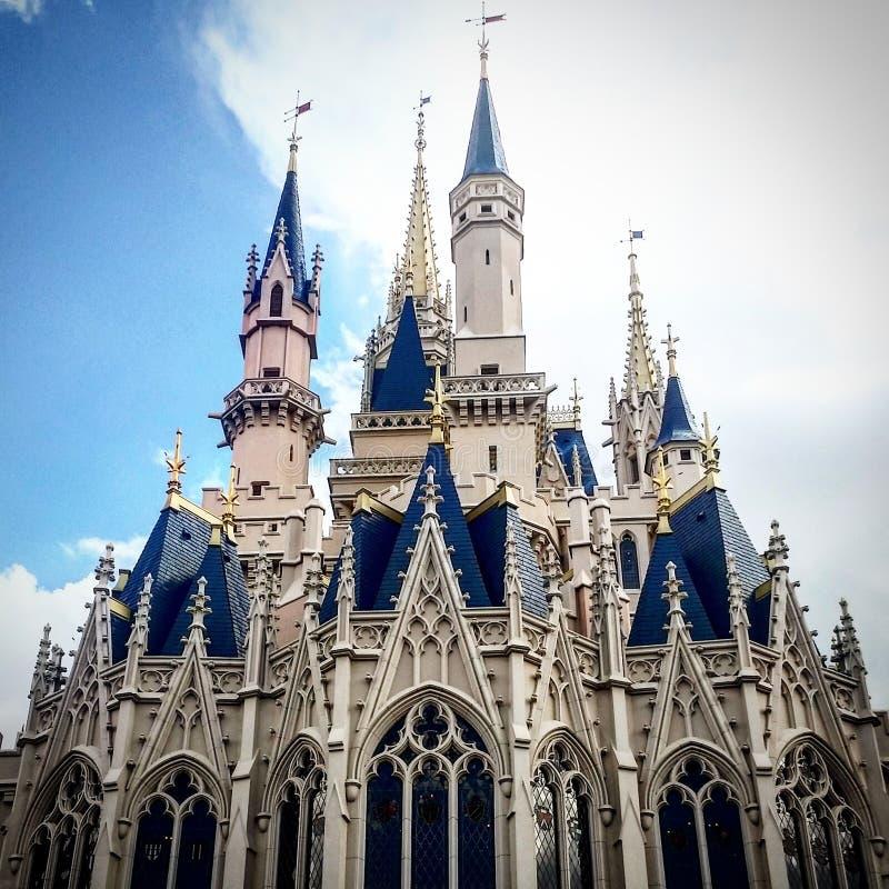 Magic kingdom castle royalty free stock photography