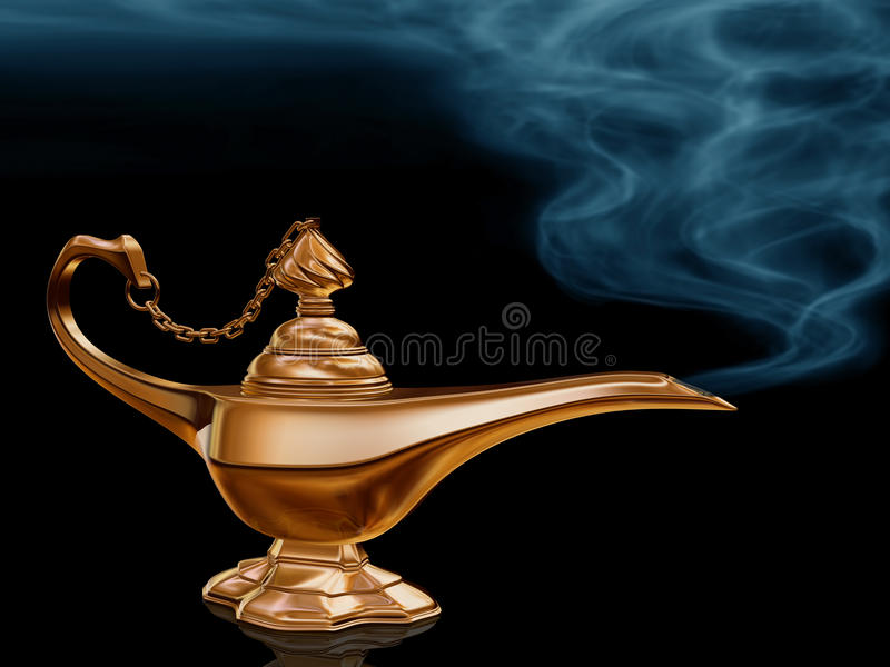 Magic Lamp. Illustration of the golden magic lamp from Aladdin vector illustration